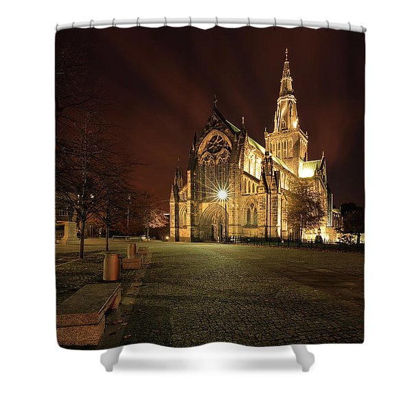 Glasgow Cathedral Night Shower Curtain