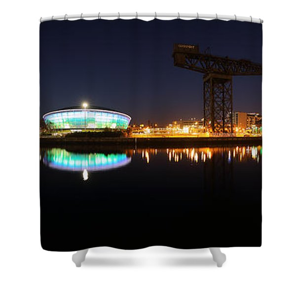 Glasgow Clyde Panorama Shower Curtain