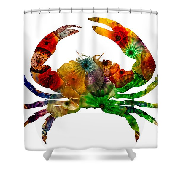 Glass Crab Shower Curtain