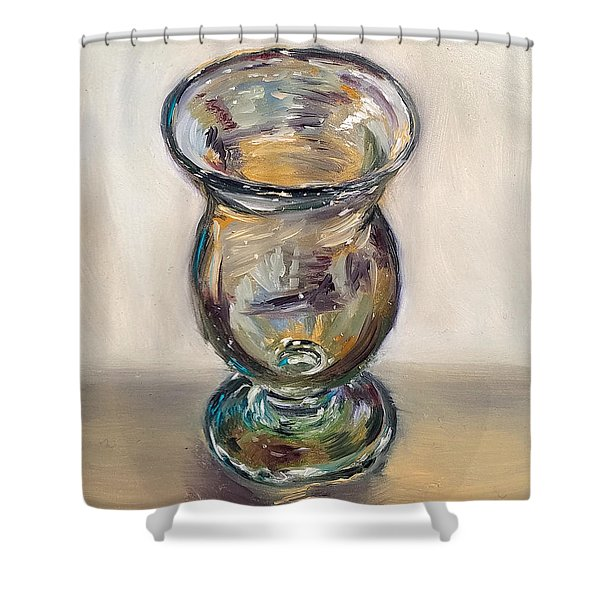 Glass Goblet Shower Curtain