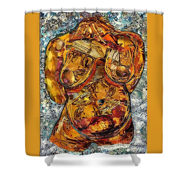 Glass Lady Shower Curtain