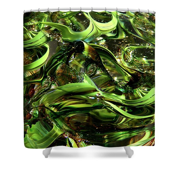 Glass Macro Iv Shower Curtain by David Patterson