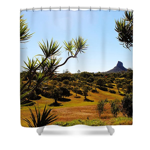 Glass Mountains Shower Curtain