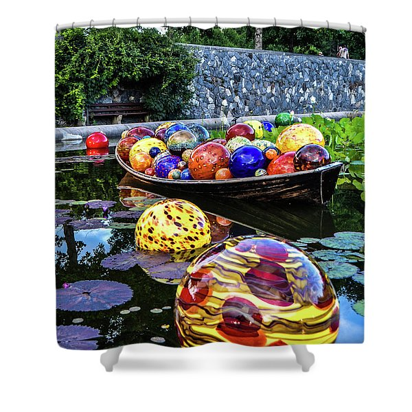 Glass On Display Shower Curtain