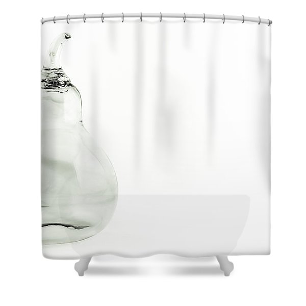 Glass Pear In Black And White Shower Curtain