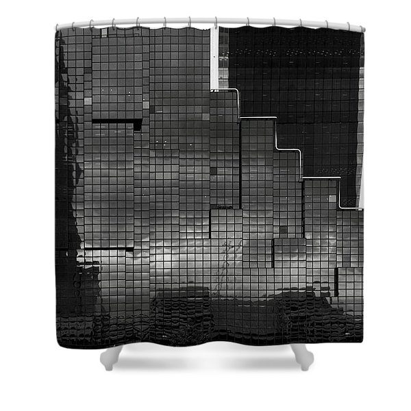 Glass Stairs Shower Curtain