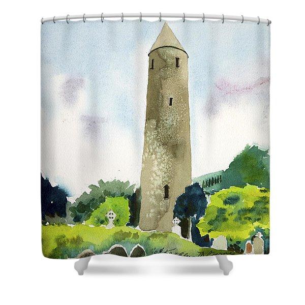 Glendalough Tower Shower Curtain
