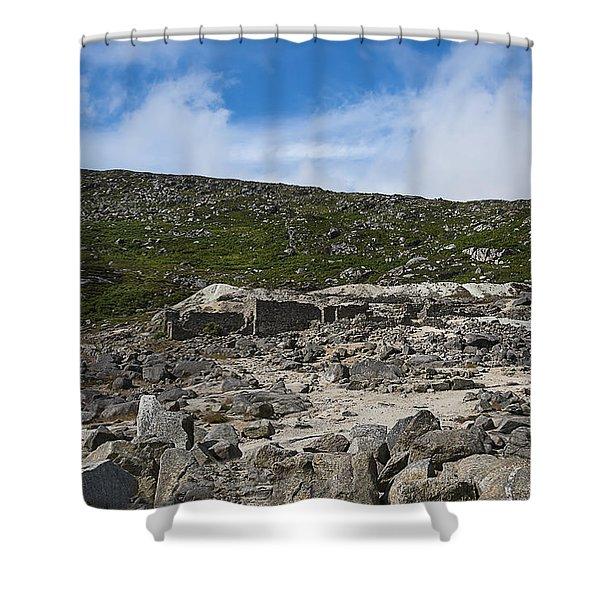 Glendasan Abandoned Mining Site Village Shower Curtain