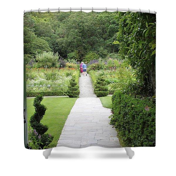 Glenveagh Castle Gardens 4272 Shower Curtain
