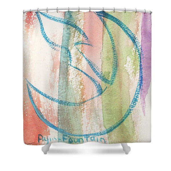 Gliding Ayin Shower Curtain