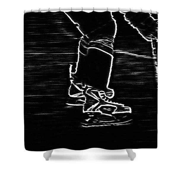 Gliding Shower Curtain