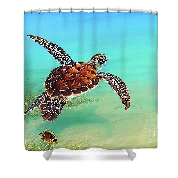 Gliding Through The Sea Shower Curtain