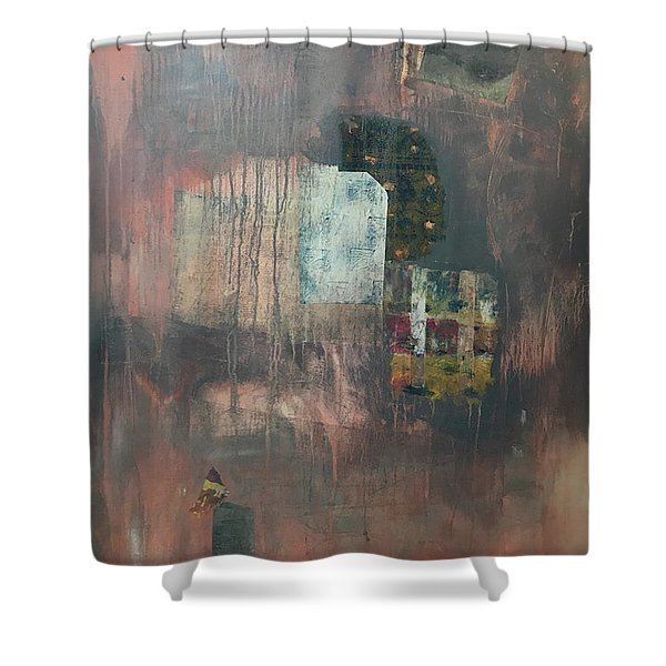 Glimpse Of Town Shower Curtain