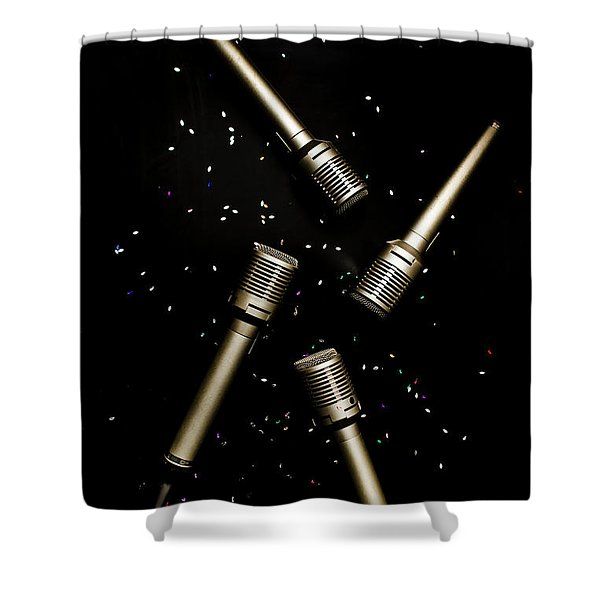 Glitz And Glam In Performing Arts Shower Curtain