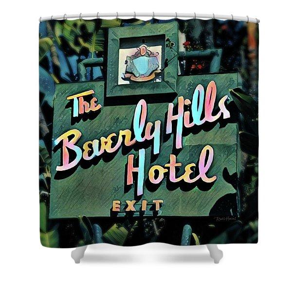 Glitzy Beverly Hills Hotel Shower Curtain