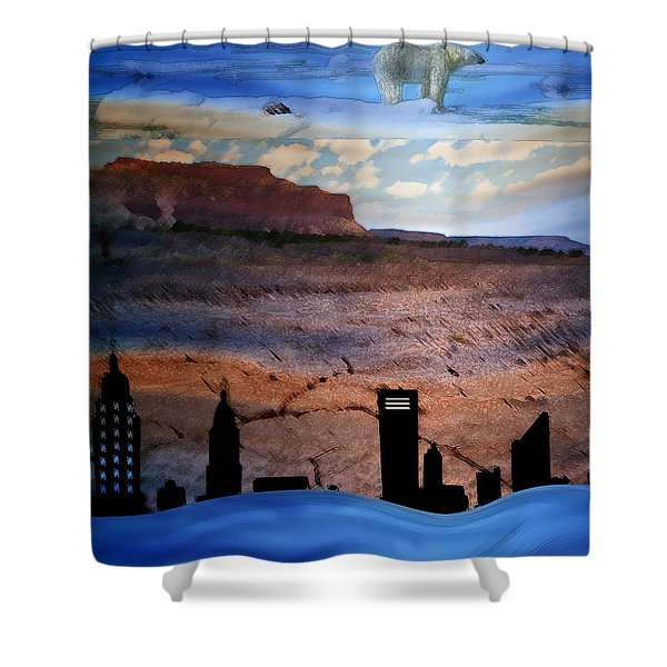 Global Care Be Aware Shower Curtain