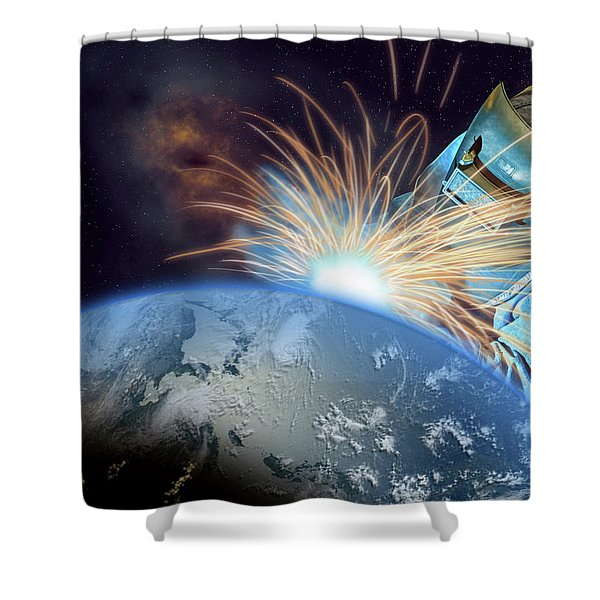 Global Meltdown Shower Curtain