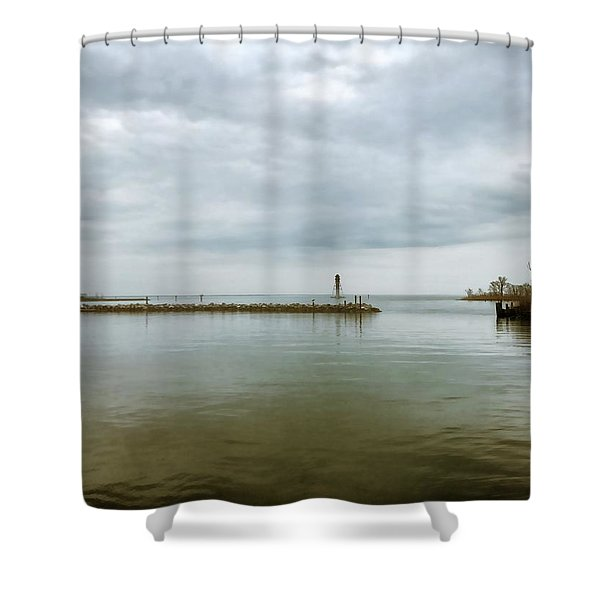 Gloom On The Bay Shower Curtain
