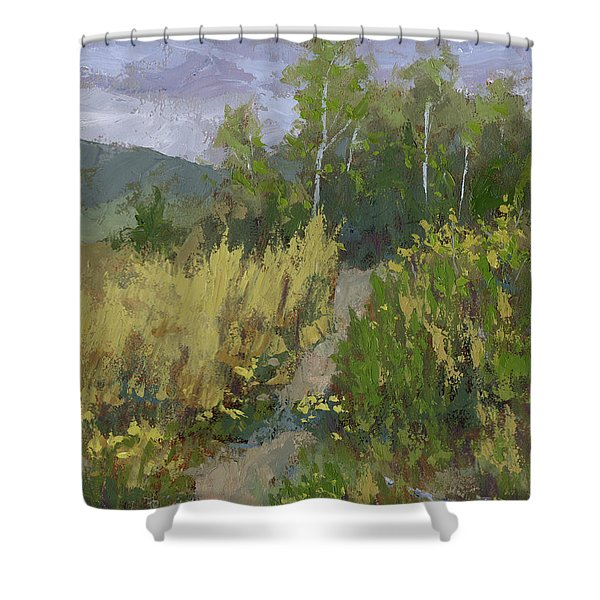 Gloomy Day Hike Shower Curtain