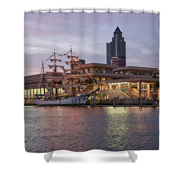 Gloria Visiting Tampa Shower Curtain