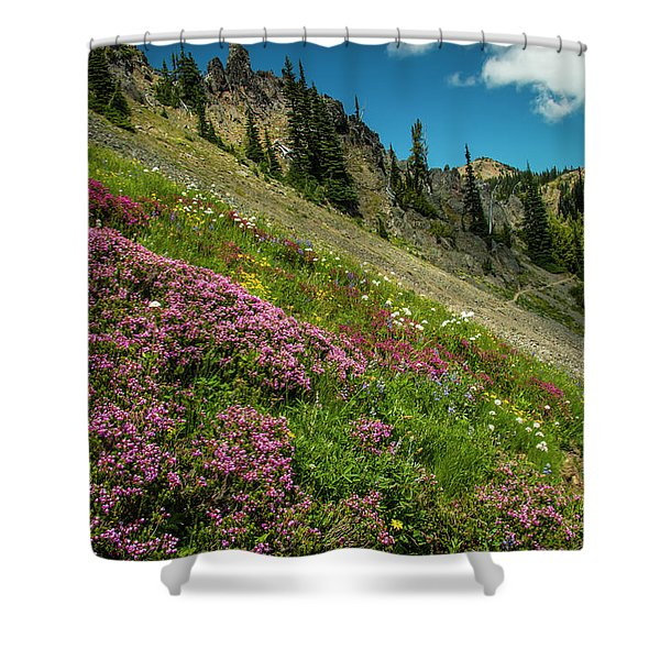 Glorious Mountain Heather Shower Curtain