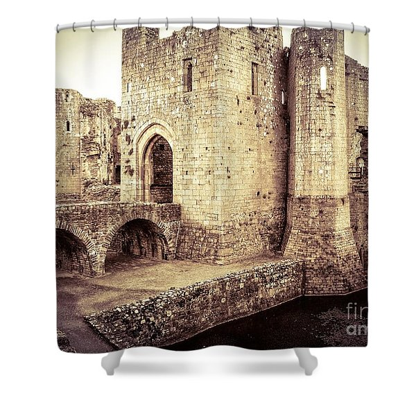 Glorious Raglan Castle Shower Curtain