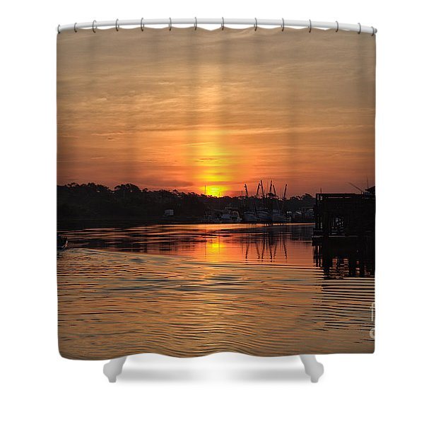 Glory Of The Morning On The Water Shower Curtain