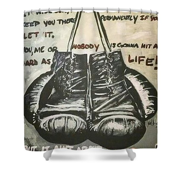 Gloves Of Life Shower Curtain