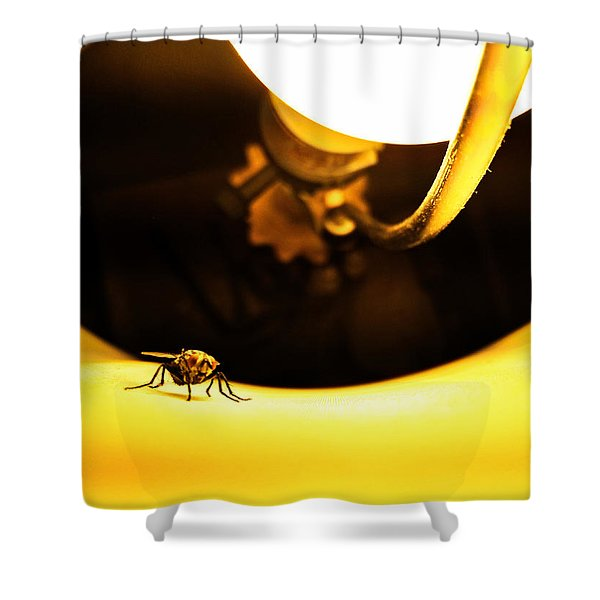 Glow Fly Shower Curtain