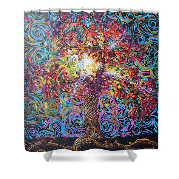 Glow Of Love Shower Curtain