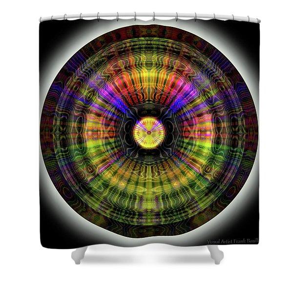 Glow Wheel Eleven Shower Curtain