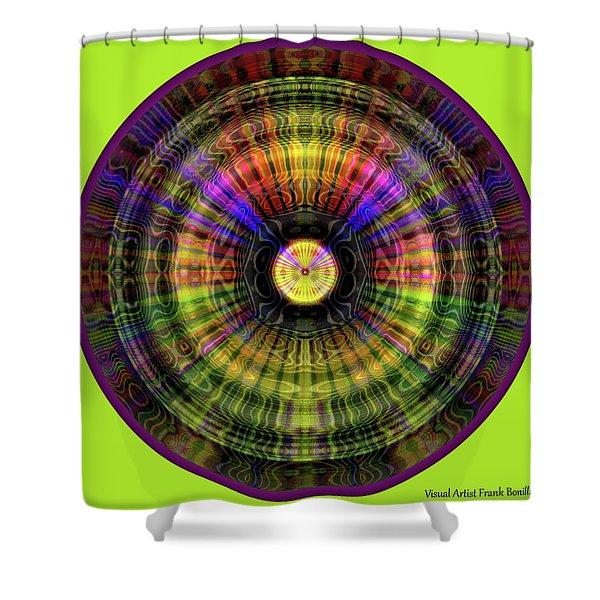Glow Wheel Five Shower Curtain