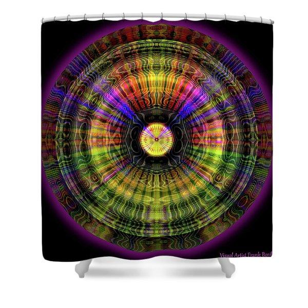 Glow Wheel Four Shower Curtain