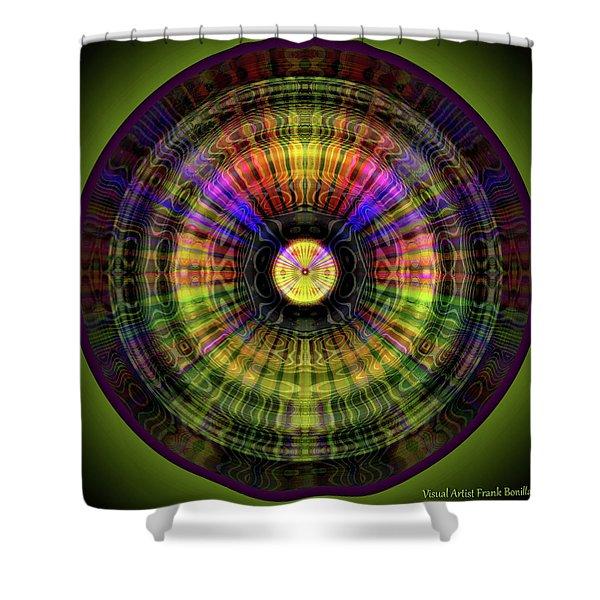 Glow Wheel Six Shower Curtain