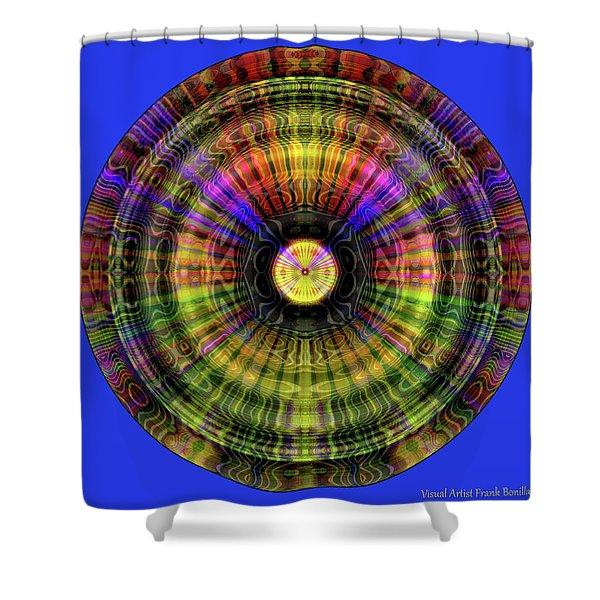 Glow Wheel Two Shower Curtain