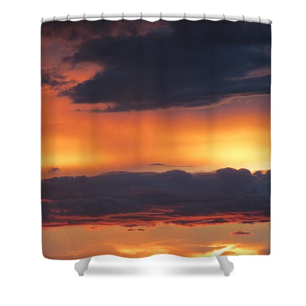 Glowing Clouds Shower Curtain