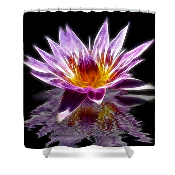 Glowing Lilly Flower Shower Curtain