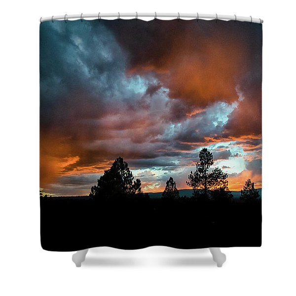 Glowing Mists Shower Curtain