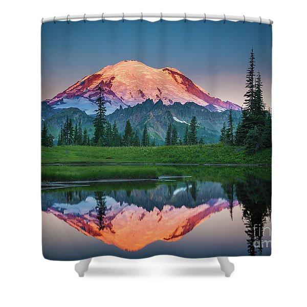 Glowing Peak - August Shower Curtain