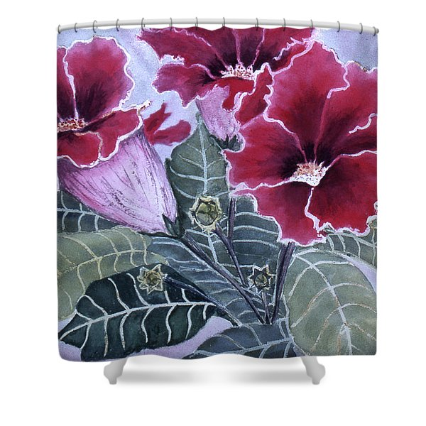 Gloxinias Shower Curtain