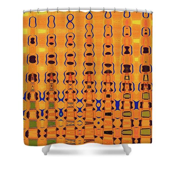 Go Fly A Kite Abstract# 3052wt Shower Curtain