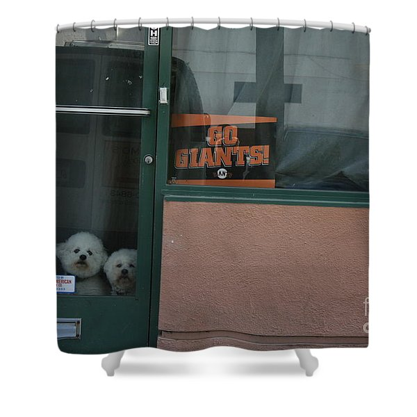 Shower Curtain featuring the photograph Go Giants by Cynthia Marcopulos
