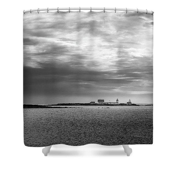 Goat Island Light, Cape Porpoise, Maine Shower Curtain
