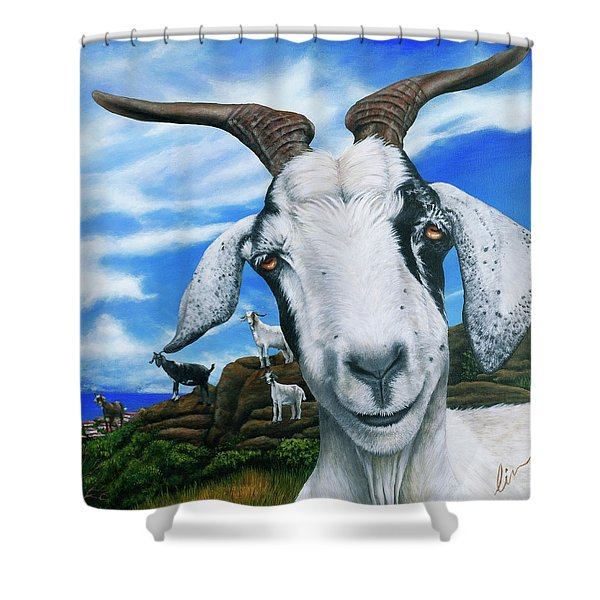 Goats Of St. Martin Shower Curtain