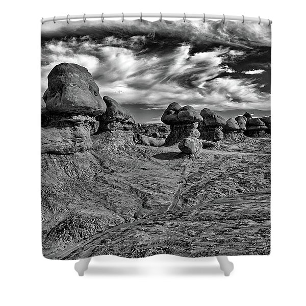 Goblins All In A Row Shower Curtain