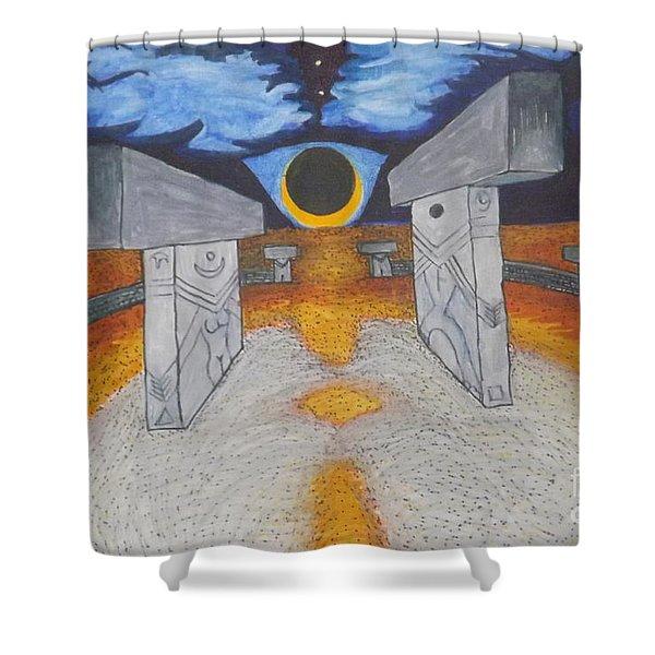 Goblitechi Vision Eclipse Shower Curtain