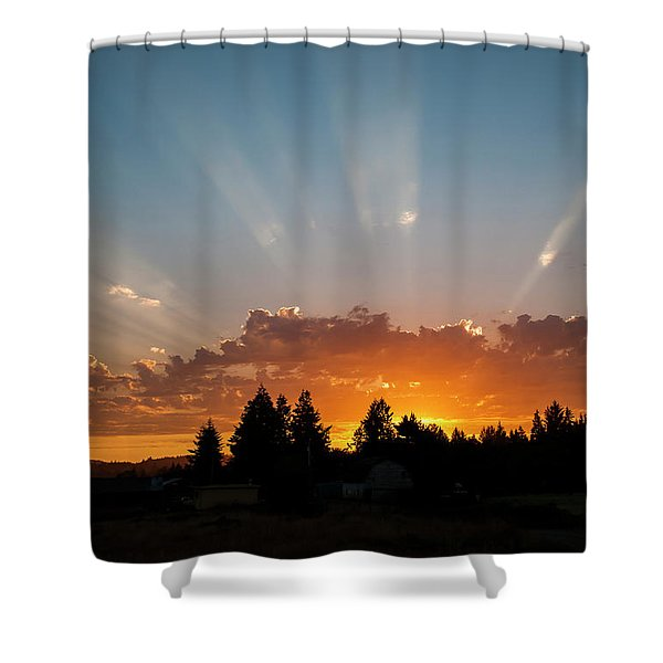 God Beams Shower Curtain