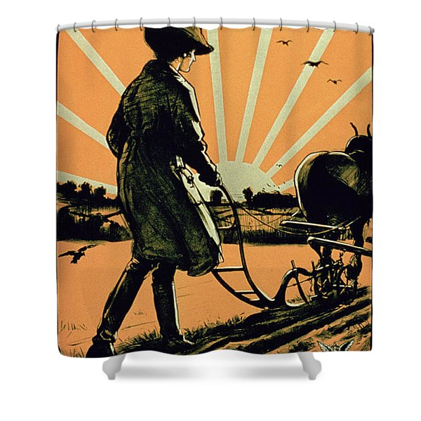 God Speed The Plough And The Woman Who Drives It Shower Curtain