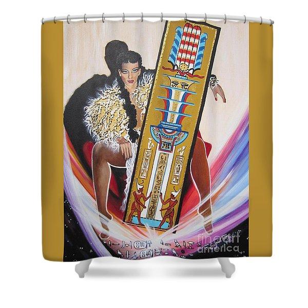 The  Tet Of Osiris Fra Blaa  Kattproduksjoner  Shower Curtain