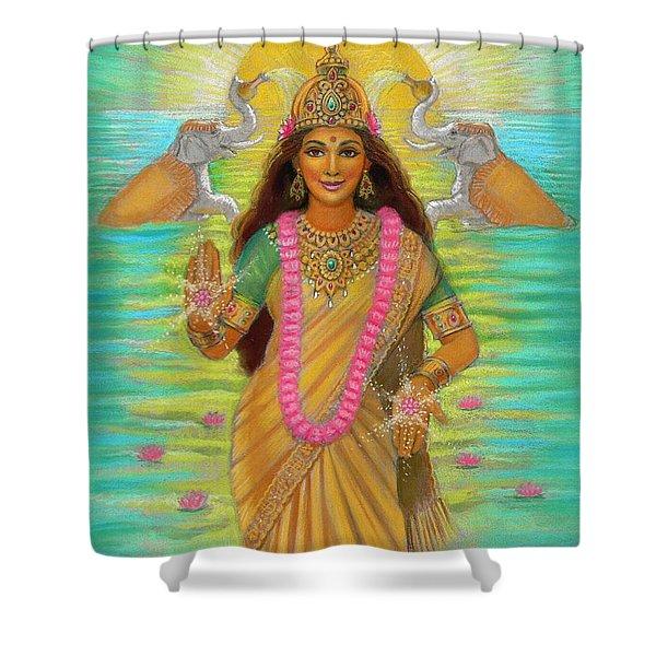 Goddess Lakshmi Shower Curtain
